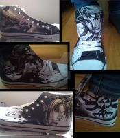 Legend of Zelda handpainted costumer shoes by Yitty