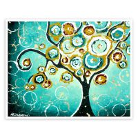 Tree of life wall art whimsical giclee print by hjmart