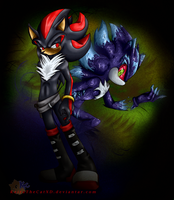 shadow the dark mephiles by KairaA-TheCat
