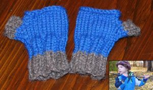 Fingerless Mitts by mailledragon