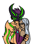 Nyx and Donnic by Brutalwyrm