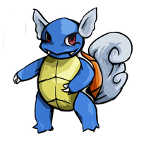 Wartortle (kanto pokemon collab) by rhyINFERIROR