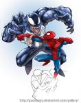Spidey vs Venom by gaudiamo