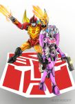 hotrod and arcee by zhane00