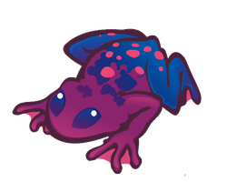 a frog by Kna