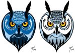 Coloured owl by Midniterain