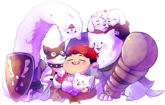 Mark And The doggos by Ao--hoshi