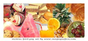 png set: various food by Magiagrafica