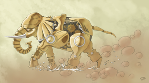 Mechanical Elephant by Chris-Garrett