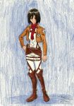Mikasa from Attack on Titan finished by ShelandryStudio