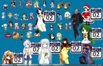 40 Anime Dsktp Icons+Calendar by MagicalXorby
