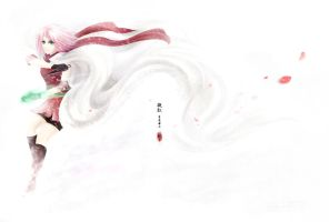 Red in White - Haruno Sakura by humonster