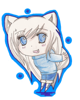 chibi ashley humen form by AshleytheWolff