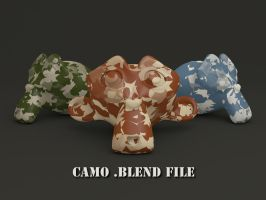 Camouflage Material + .blend File by VickyM72