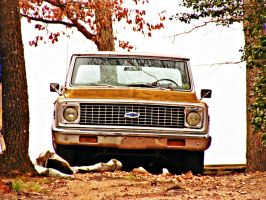 Spicy Mustard Chevy by JeremyC-Photography