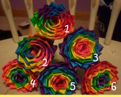 Rainbow Duct Tape Flower Pens by LishaChan