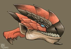 Rathalos head by AMBONE105