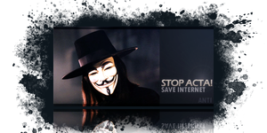 STOP ACTA signature by ANTIDESIGNs