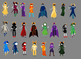 ALL the god tiers by TargetGirl