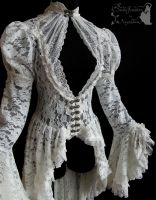 Romantic lace waistcoat, dreamy, ghostly, victo by SomniaRomantica