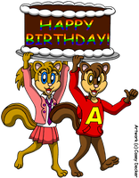 Alvin and Brittany's Birthday Surprise by CaseyDecker