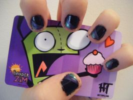 Invader Zim Nail Art by TheShortness28