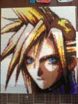 Cloud Strife Perler Bead Portrait by WarriorOfPurgatory