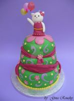 Hello Kitty Cake winning design by ginas-cakes
