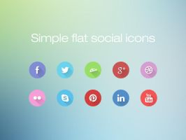 Simple Flat Social Icons by atoowest