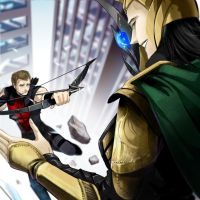 Hawkeye and Loki by Som66