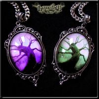 Tree of the Dead Necklace-Purple by Horribell-Originals