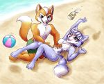 Fox+Krystal: tickles at the beach by Naaraskettu