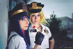 Panty and Stocking cop cosplay by XiXiXion