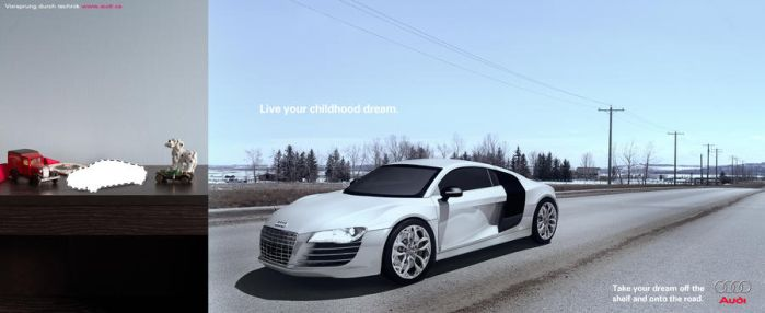 Audi R8 Mock Ad by Hutzon