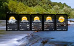 Forecast Frame for xwidget by jimking