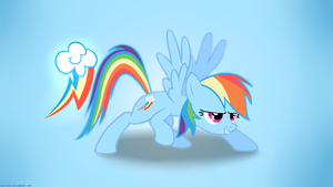 Simple Rainbow Dash background by Lol-Tusci