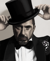 Robert Downey Jr by Chicken-Priestess