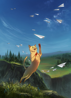 Paper airplanes by WolfsECHO