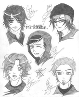 My Chemical Romance - Sketches by LoveofAngels