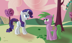 Rarity meets Spike by SergRus