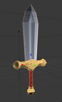3D Shortsword Texture Practice by The-Knick