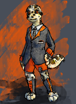 Lizerd in a business suit by White-Curtains