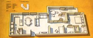 Apartment layout by aconnoll