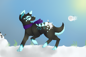 Snowball Fight by RubyBug