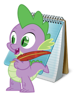 Spike Note Pad Icon by LovelyNeko-MeE0w