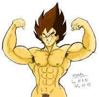 Sexy Prince of Saiyans_Colored by VegetasLittleLover