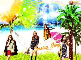 [Wallpaper] Jessica SNSD By JungPuNy by jungpuny