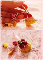 fruits Flan phone strap by Fraise-Bonbon