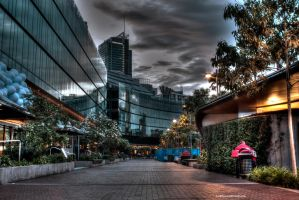 Darling Harbour Sunrise - Harbour Walk by Lori-P-Photography