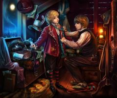 Alice in the Hatter workshop by eberouge